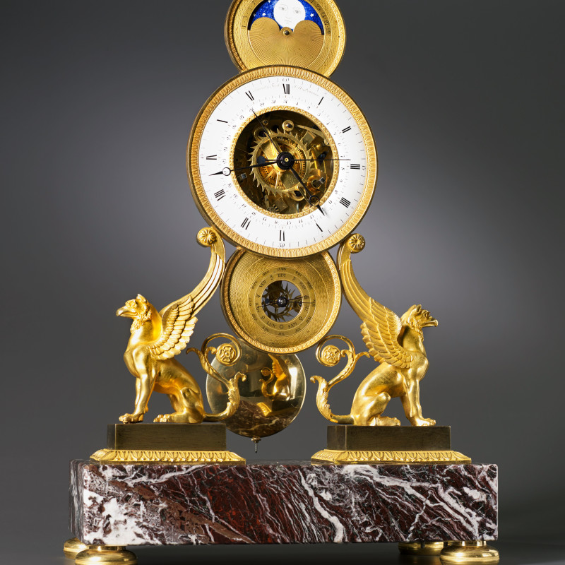 Jean-Claude Lemoine - An Empire skeleton clock of eight day duration by Jean-Claude Lemoine, Paris, date circa 1810