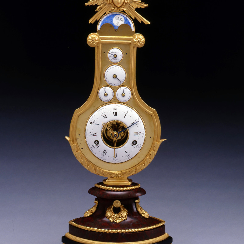 Jean-Louis Bouchet (attributed to) - A Louis XVI astronomical lyre clock attributed to Jean-Louis Bouchet and most probably retailed by Martinet à Paris, Paris, date circa 1785