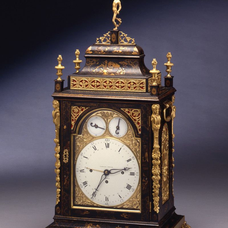 Eardley Norton - A Georgian quarter striking bracket clock by Eardley Norton, London, date circa 1775