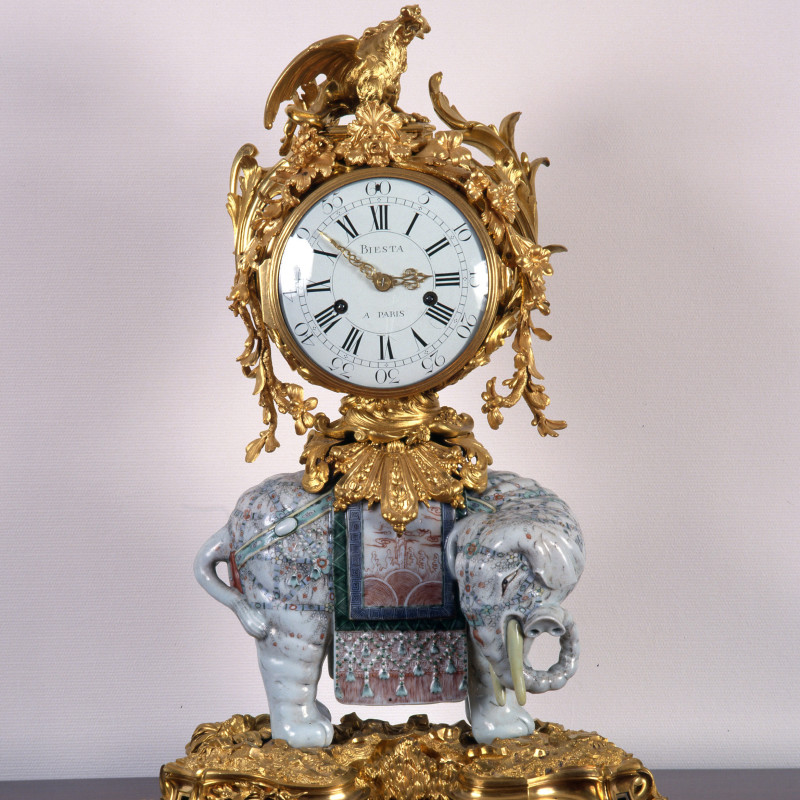 Jean Biesta - A Louis XV elephant clock by Jean Biesta, case attributed to Jean-Joseph de Saint-Germain, Paris, date circa 1769