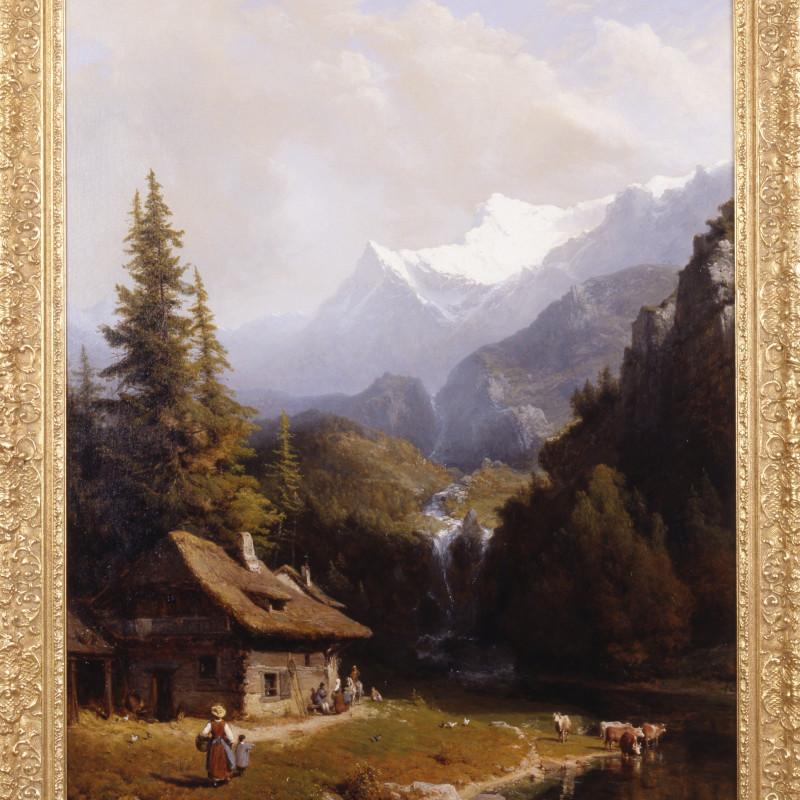 "Karl Josef Kuwasseg - ""An Alpine Pass"