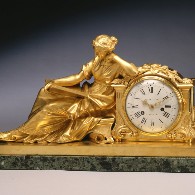 "Nicolas-Antoine Le Nepvue - A Louis XVI figural clock entitled ""Allegory of Study"" or ""The Geoffrin Clock"", by Nicolas-Antoine Le Nepvue , Paris, date circa 1775"