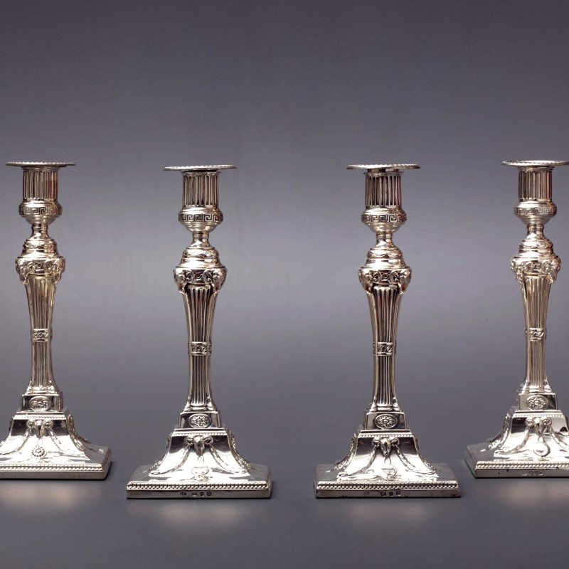 John Carter - A set of four 18th Century candlesticks, London, 1774