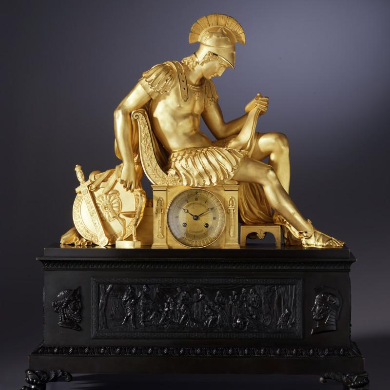 Louis-Stanislas Lenoir-Ravrio - A Restauration mantel clock by Louis-Stanislas Lenoir-Ravrio, Paris, date circa 1820