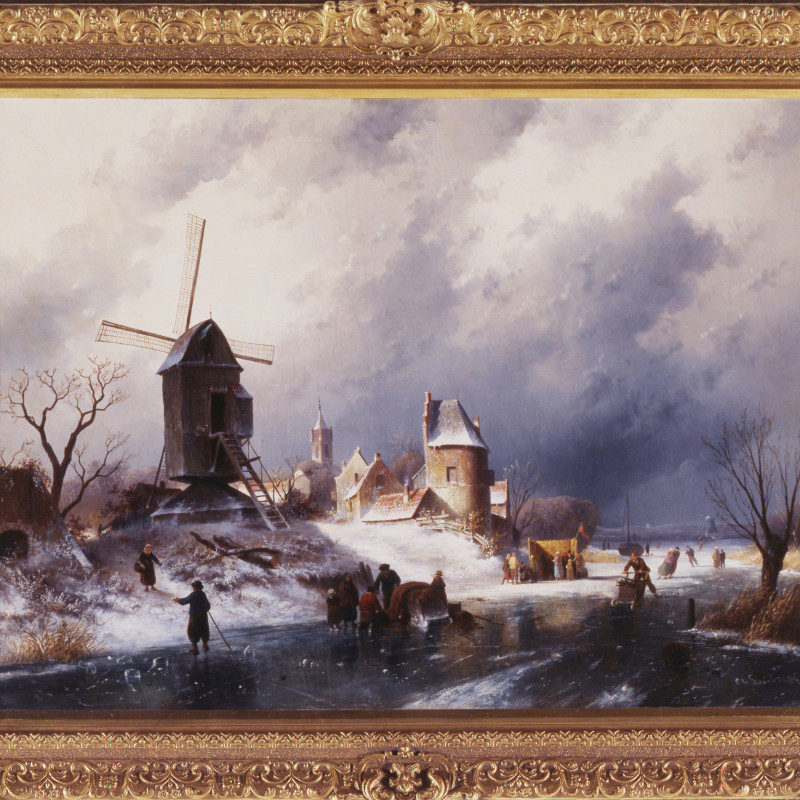 "Charles Henri Joseph Leickert - ""A Winter Landscape"" by Charles Henri Joseph Leickert , 1968"