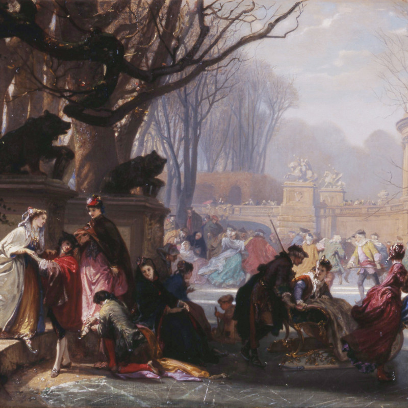 "Henri-Charles-Antoine Baron - ""Les Patineurs"" by Henri-Charles-Antoine Baron"