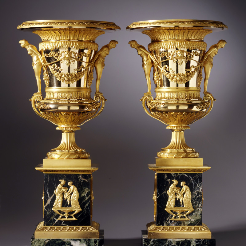 Friedrich Bergenfeldt (attributed to) - A pair of large sized St. Petersburg Empire vases attributed to Friedrich Bergenfeldt, Saint Petersburg, date circa 1805