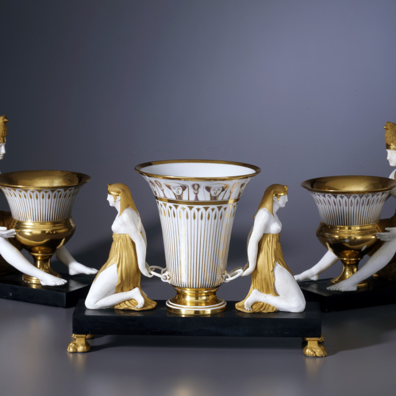 Dagoty - An Empire Egyptian revival parcel surtout de table by Dagoty, Paris, date circa 1805-1810