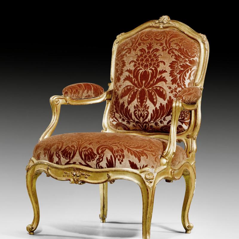 Blaise Maucuy - A Louis XV fauteuil by Blaise Maucuy , Paris, date circa 1760