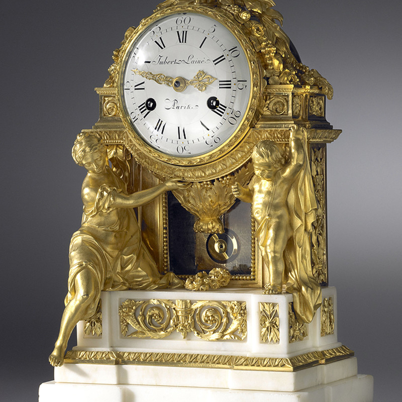 Jean-Gabriel Imbert - A Louis XVI mantel clock of eight day duration, by Imbert L'Ainé, Paris, date circa 1780