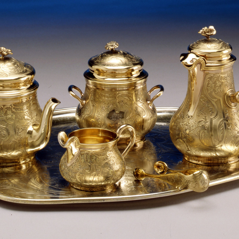 Gustave Odiot - A breakfast set by Gustave Odiot, Paris, date circa 1890