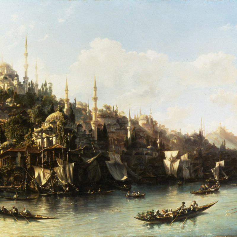 Eugène Napoléon Flandin - A View of the Suleymaniyeh and The Golden Horn, Constantinople, 1852