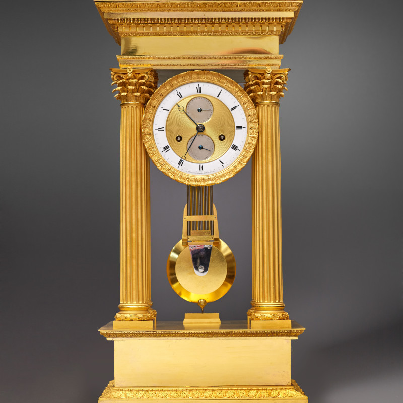 Comminges - A late Empire table regulator by Comminges, Paris, circa 1820