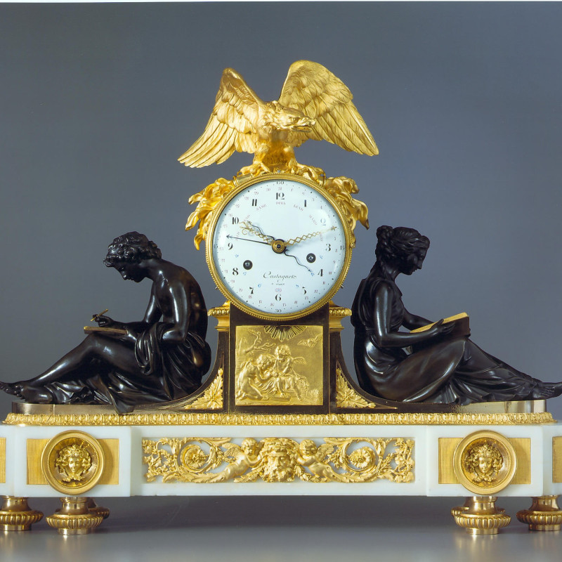 Jacques-Joseph Castagnet - A Louis XVI figural clock of eight day duration by Jacques-Joseph Castagnet, Paris, date circa 1790