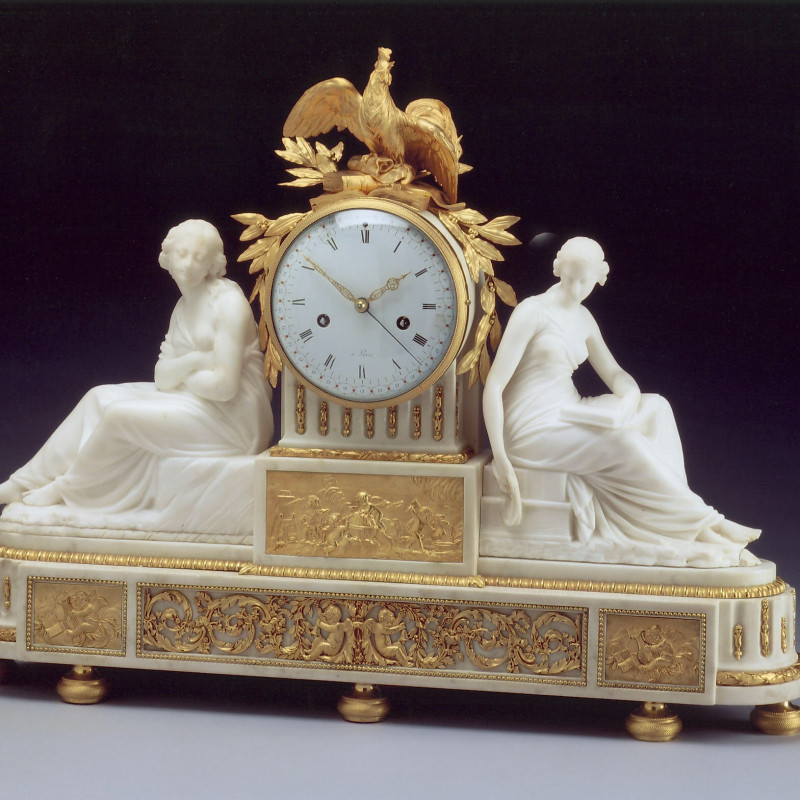 Jean-Simon Bourdier (attributed to) - A Directoire figural clock of eight day duration attributed to Jean-Simon Bourdier, Paris, date circa 1795