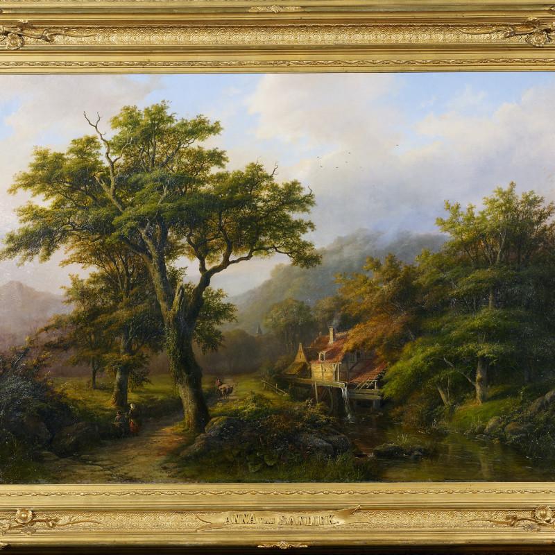 "Anna van Sandick - ""Romantic landscape"" by Anna van Sandick, 1868"