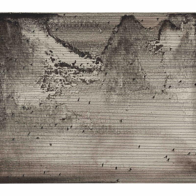 Lu Chao 2017 Funambulist 45x60cm Oil On Canvas