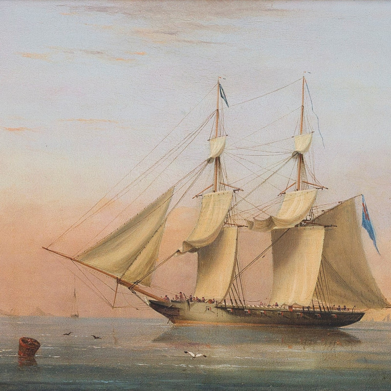 A Royal Navy 38-gun frigate of the Blue Squadron