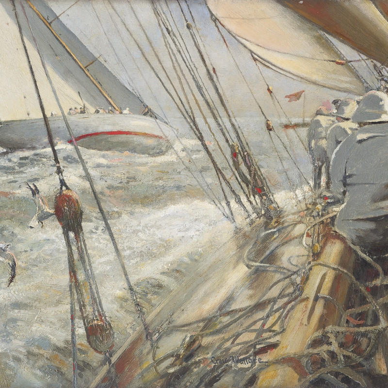Robert Craig-Wallace, Velsheda and Vida IV competing in the Clyde Corinthian Regatta, on the Firth of Clyde