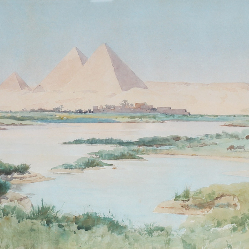 Robert George Talbot Kelly, The Pyramids at Giza