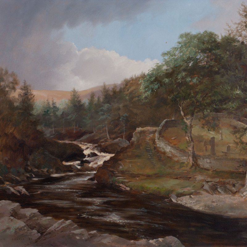 William Garfit, The Falls and Cemetery Pool, River Cassley