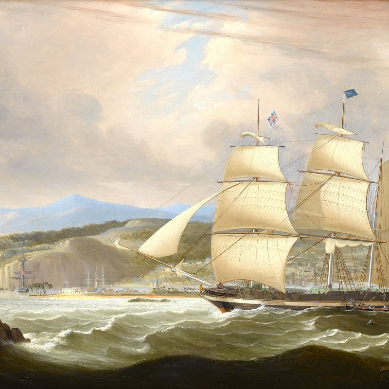 John Lynn, The barque `Woodmansterne' calling for a pilot off Port Royal, Jamaica, upon her arrival after her maiden voyage