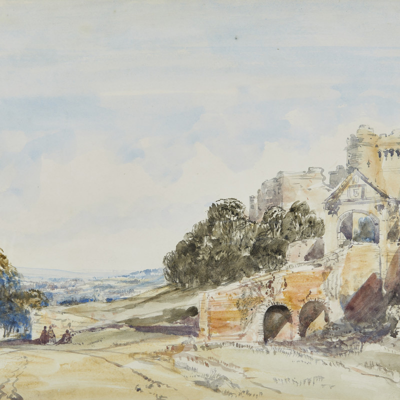 William Callow, RWS, Carisbrooke Castle, Isle of Wight