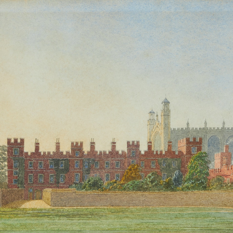 George Pyne, Eton College with the Chapel beyond, evening light