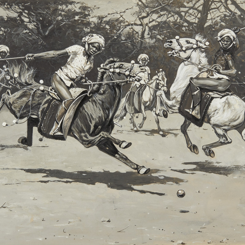 Hugo Ungewitter, Polo match in progress