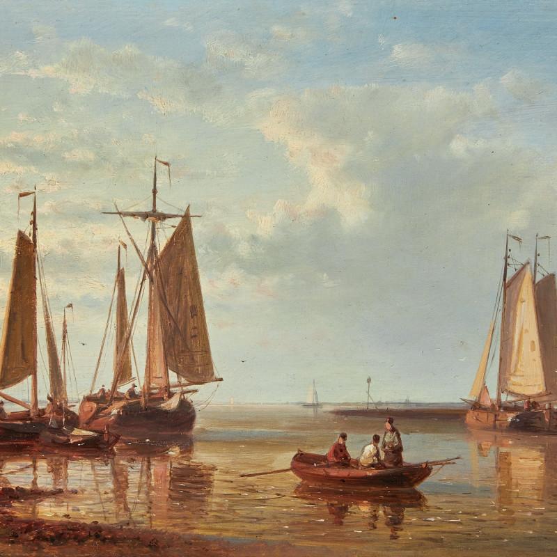 Abraham Hulk Senior, A Dutch fishing fleet anchored off the coast