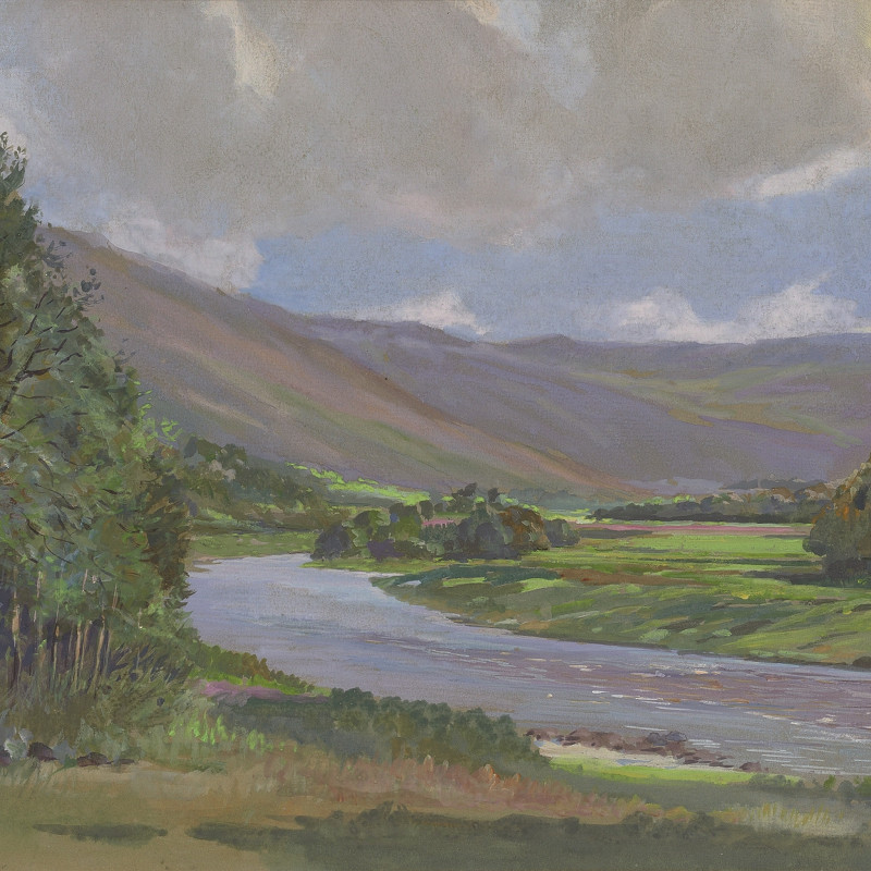 Harold Frank Wallace, Above Salscraggie, River Helmsdale