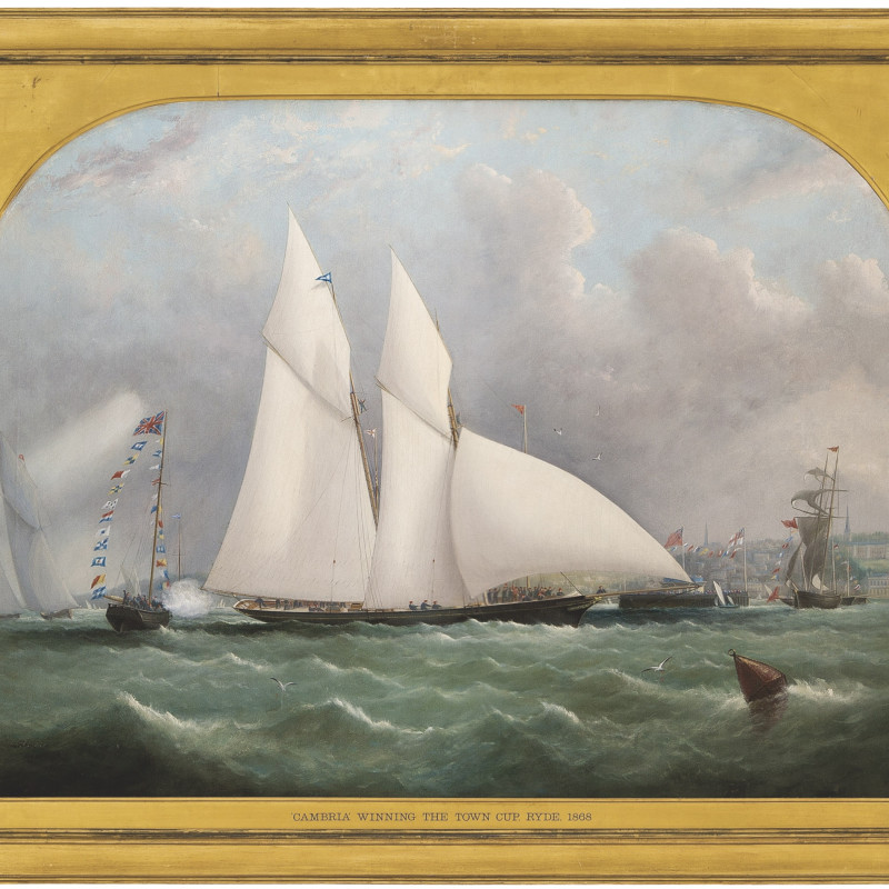 Cambria winning the Town Cup, Ryde, Isle of Wight, 1868