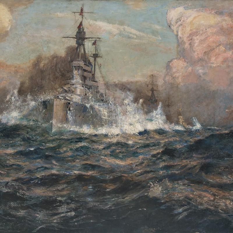 Arthur James Wetherall Burgess, RI, ROI, RBC, RSMA, 'Britannia Supreme' 1916