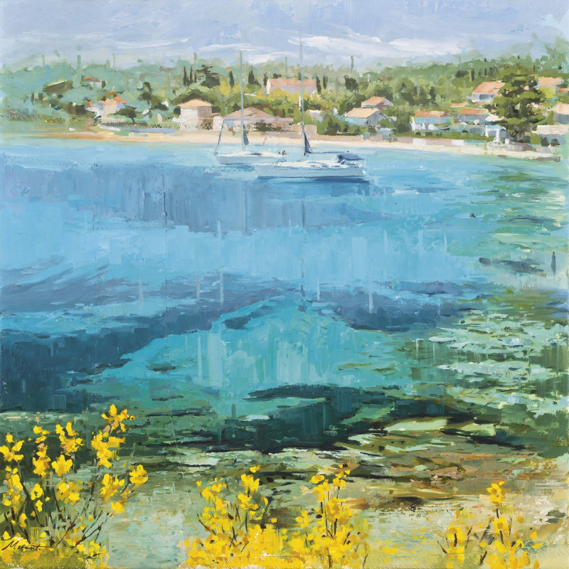 <div class=&#34;artist&#34;><strong>Johnny Morant</strong></div><div class=&#34;title_and_year&#34;><em>Clear water</em></div><div class=&#34;series&#34;><span class=&#34;artwork_caption_prefix&#34;>Series:</span> Mare Nostrum</div><div class=&#34;signed_and_dated&#34;>signed</div><div class=&#34;medium&#34;>oil on sailcloth</div><div class=&#34;dimensions&#34;>24 x 24 in. </div>