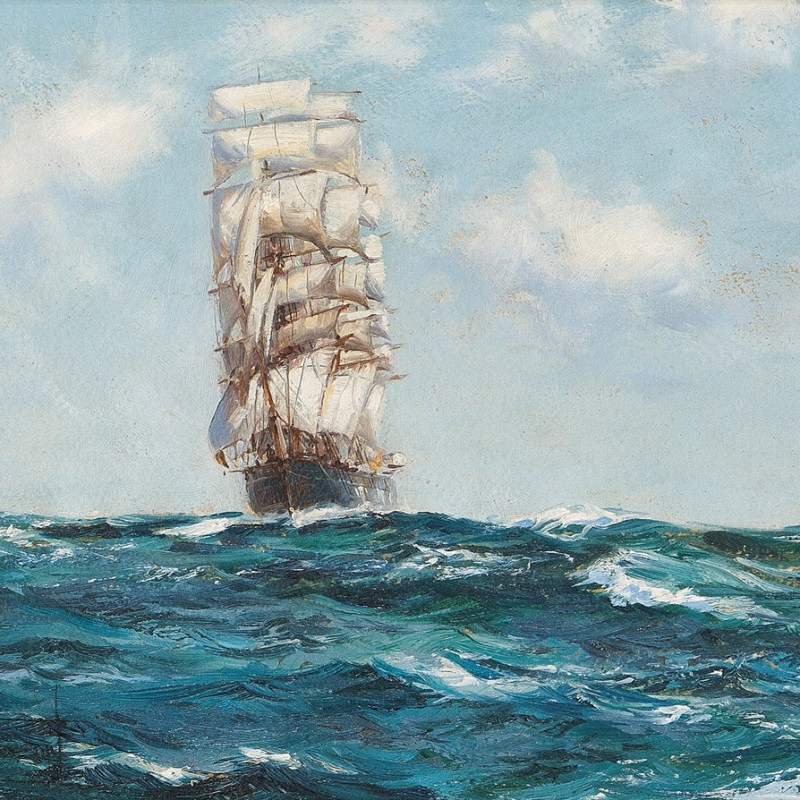 Montague Dawson, RSMA, FRSA, Running down the wind