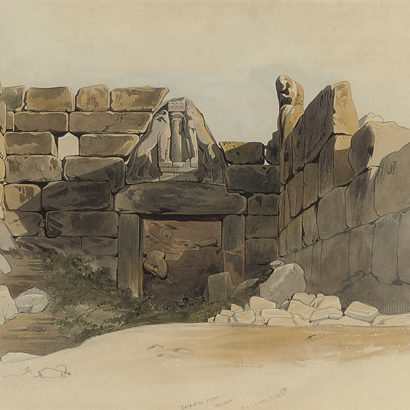 Thomas Hartley Cromek, The Lion Gate, Mycenae