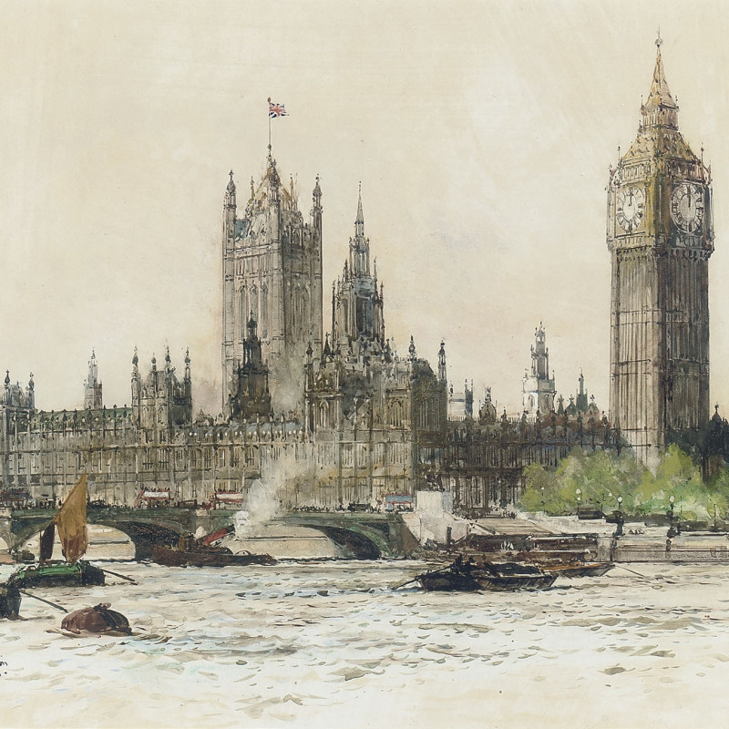 The Houses of Parliament from The Thames