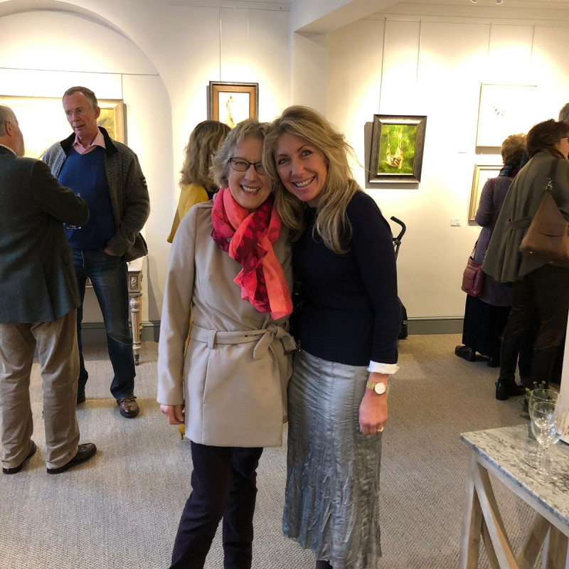 Mandy Shepherd at the private view of her latest exhibition in Petworth