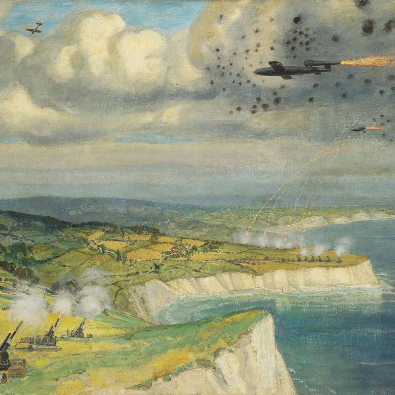 Intercepting Doodlebugs, 1944 by Frank Owen Salisbury