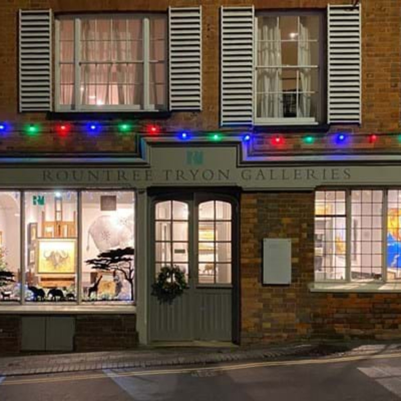 Festive lights bring cheer to art and antiques shops and galleries across the country