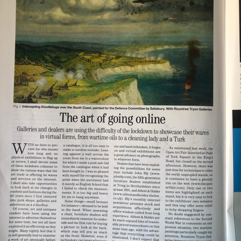 The art of going online