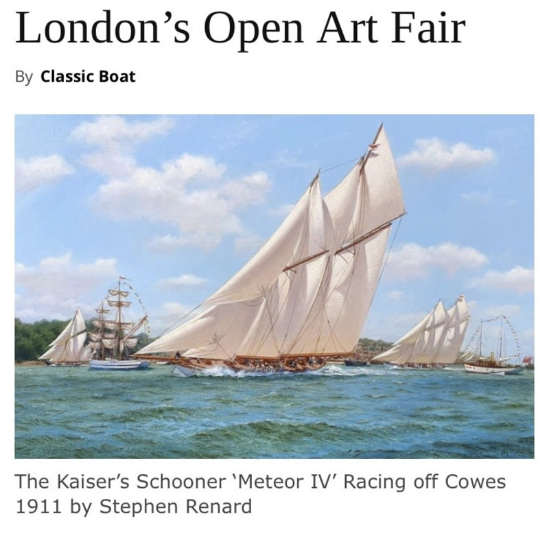 Pretty as a picture - marine artworks coming to London's Open Art Fair