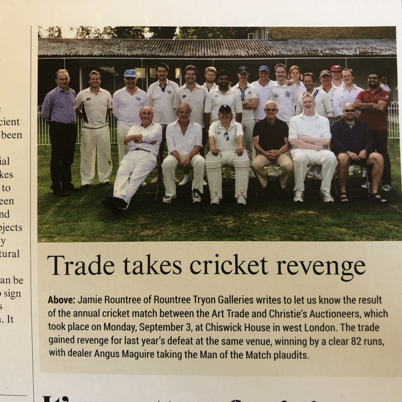 Antiques Trade Gazette: Trade takes cricket revenge