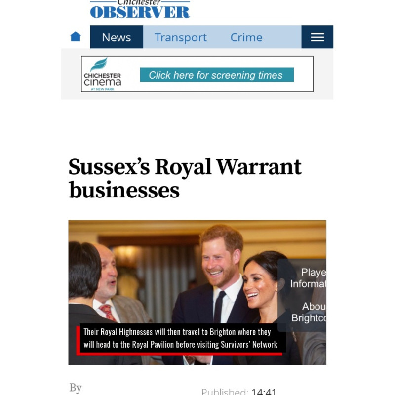 The Chichester Observer: Sussex's Royal Warrant Businesses