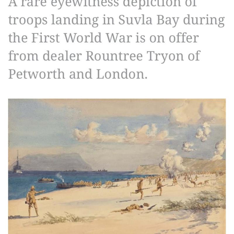 Antiques Trade Gazette: Scene of the Gallipoli Campaign 'rediscovered' in Canada
