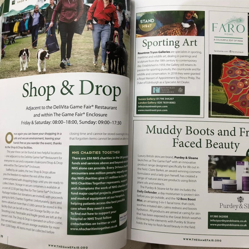 The Game Fair 2019: Rountree Tryon Galleries in Shop & Drop section