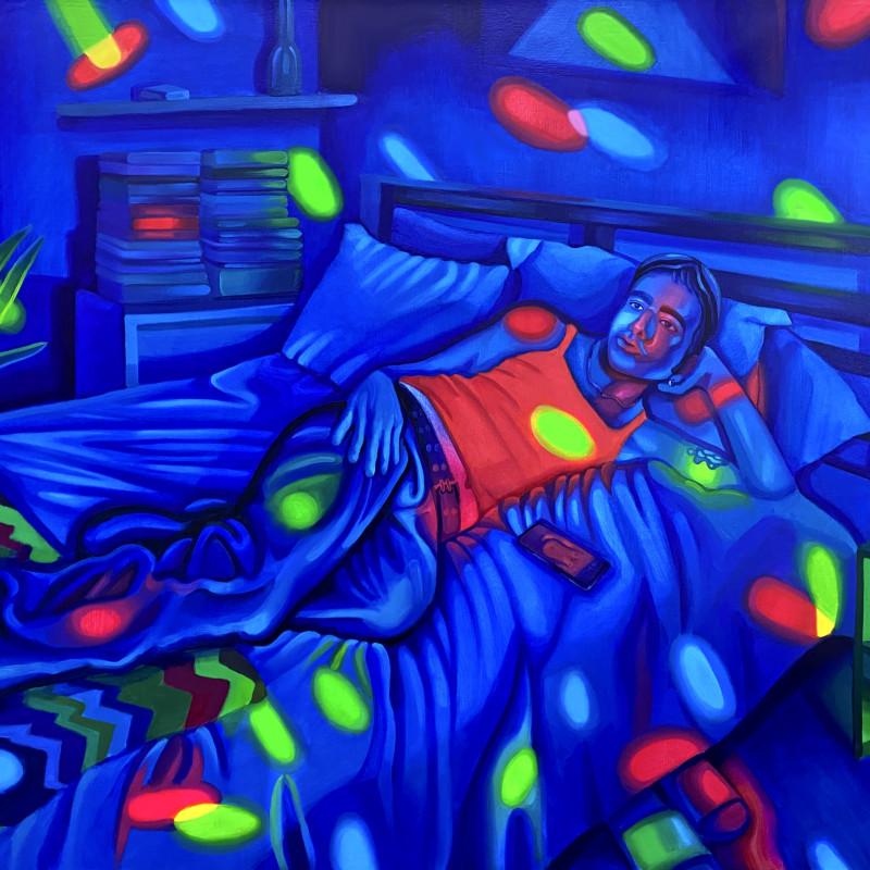 James Bartolacci Self-Portrait at Night, 2020 Oil on canvas 91 x 122 cm. / 36 x 48 in.