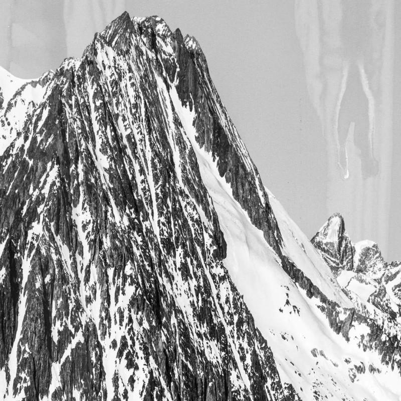 《阿莱奇冰川》局部,摄影及综合艺术手段  The Aletsch Glacier (part), Photography, Mixed media