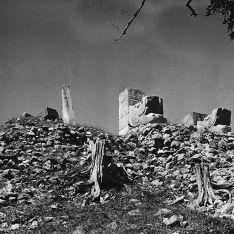 羽蛇神首雕像,勇士庙,墨西哥奇琴伊察玛雅文明遗址,1955年