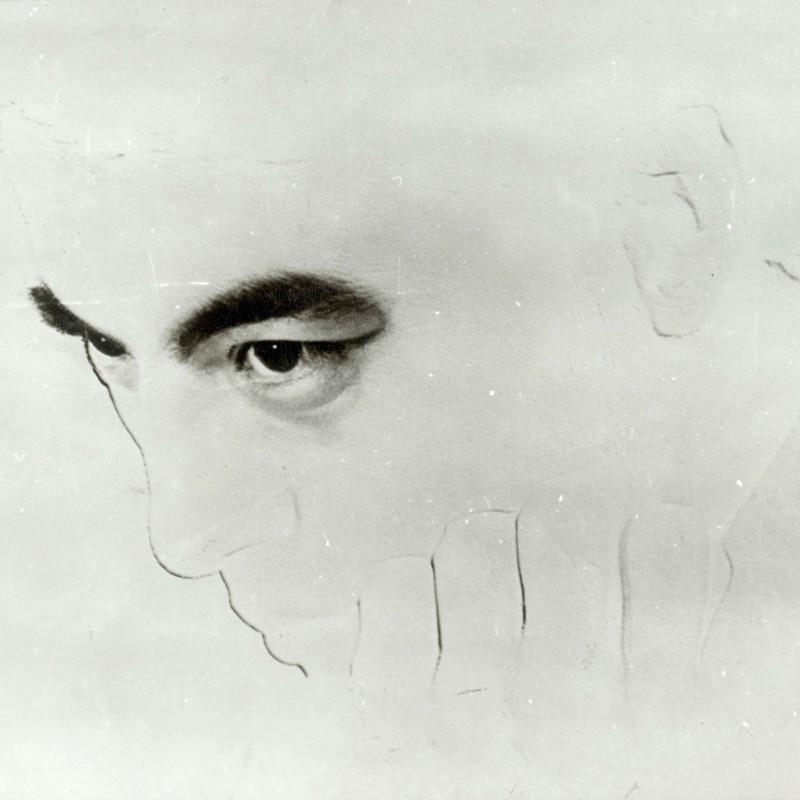 凌飞 Ling Fei,只有思想在流动 Only the Thoughts Are Flowing,1980,明胶卤化银 Gelatin Silver Print,15×11.5cm